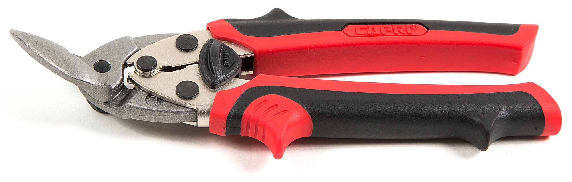 Capri Tools 40207 Compact Aviation Tin Snips, 7'', Left, Red/Black