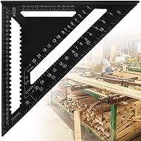 AFASOES 12 Inch Aluminium Driehoek Liniaal Metrisch/Imperial Driehoek Schaal Liniaal Dubbele Schaal Framing Vierkante…