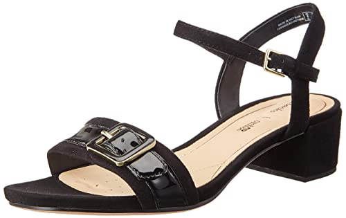 58770e3e384d Clarks Women s Orabella Shine Black Leather Fashion Sandals-6 UK India  (39.5 EU