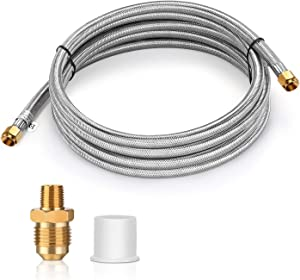 WADEO 12 FT Stainless Steel Propane Extension Hose with Both 3/8