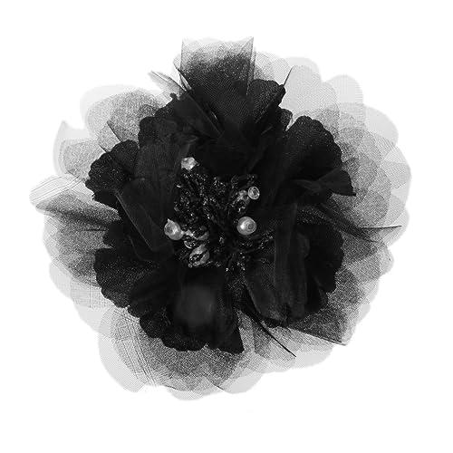 Braut Hochzeit Stoffblume Brosche Perle Haarspangen Mode Haarschmuck