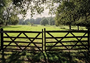 JP London MD4A143 8.5-Feet High by 12-Feet Wide Removable Panoramic Farm Gate XL Country Wall Mural