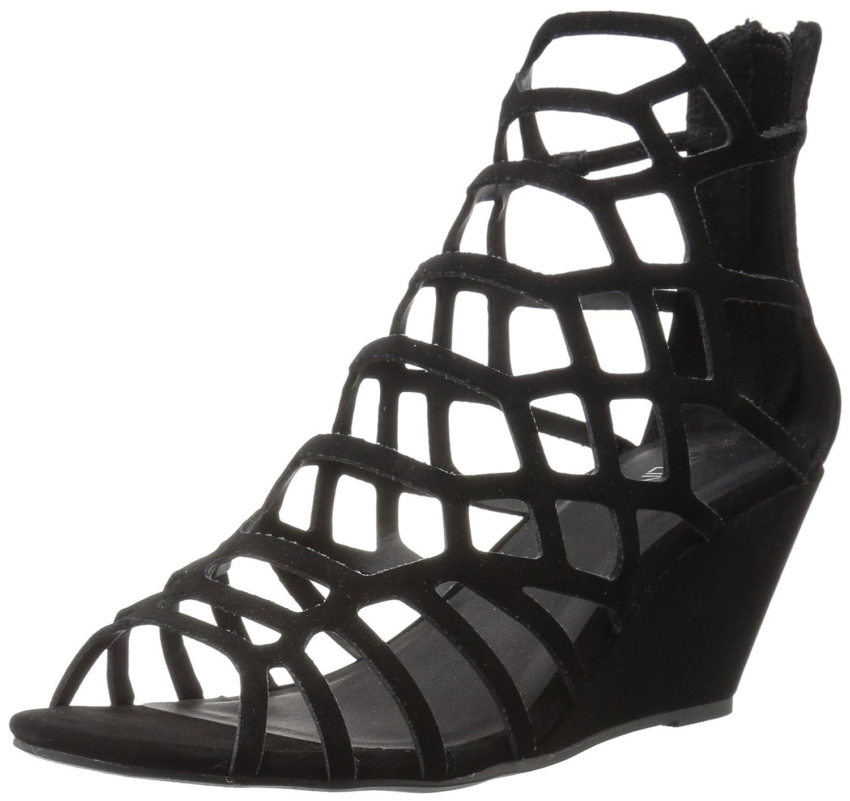 Topline Women's Howabout Wedge Sandal B072C7XTF5 8 B(M) US Black 1