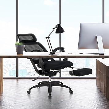 Mesh Recliner Office Chair Ergonomic High Back with Footrest & Amazon.com : Mesh Recliner Office Chair Ergonomic High Back with ... islam-shia.org
