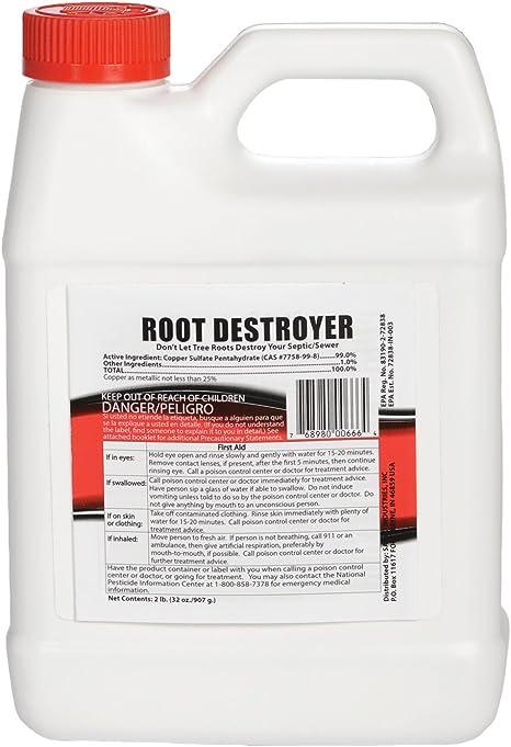 Sanco Industries Root Destroyer - 2 Pounds (32 Ounces) - Copper Sulfate Pentahydrate