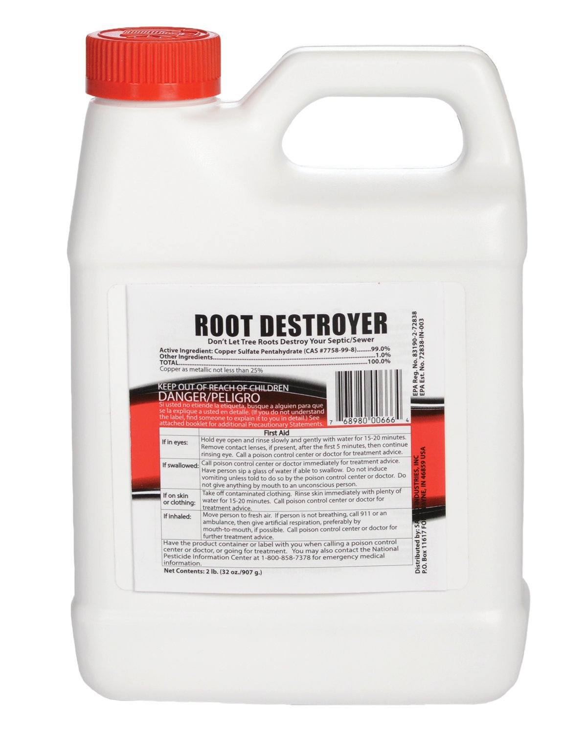Sanco Industries Root Destroyer - 2 Pounds (32 Ounces) - Copper Sulfate Pentahydrate
