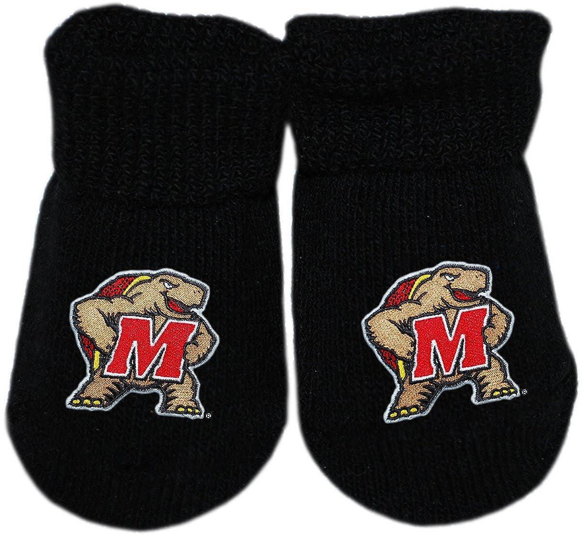 University of Maryland Newborn Baby Bootie Sock