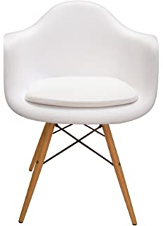 Exceptionnel Cushion For Eames Molded Plastic Arm Chair (White Vinyl)