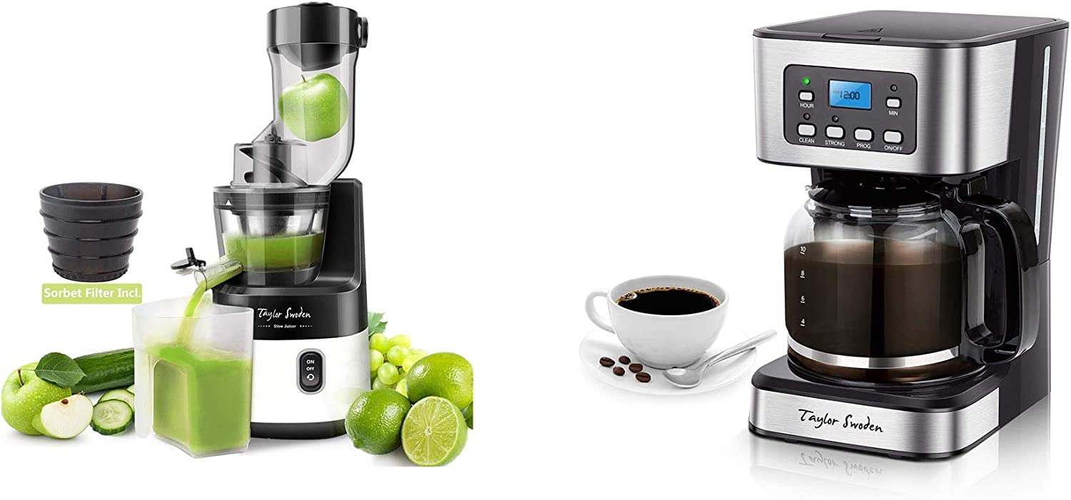 Taylor Swoden 200W Cold Press Juicer Programmable Coffee Maker