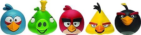 El juego de Angry Birds viene con cinco divertidas figuras: rojo, bomba, chuck, pájaro azul y rey Le