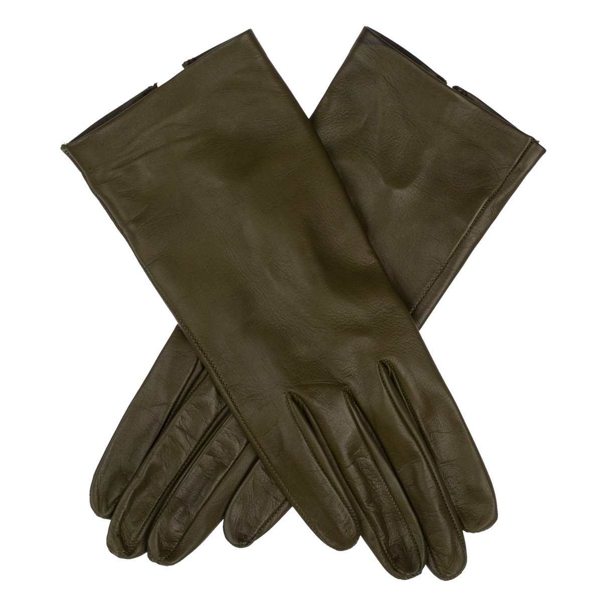 Lundorf Flora Womens Unlined Leather Gloves Cool Nordic Design– Loden Green – Size 7.5 - Medium-Large