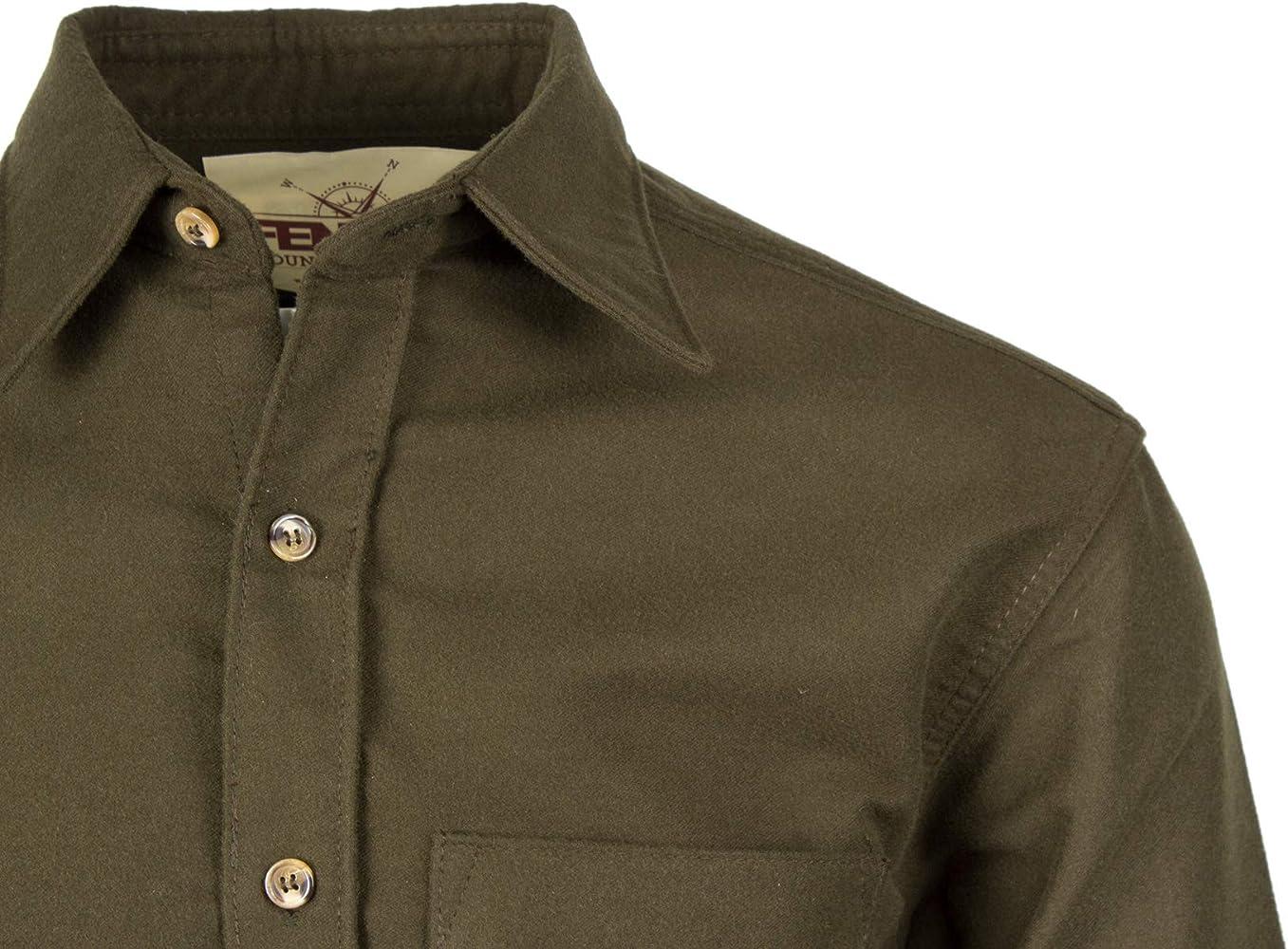 Fenside Country Clothing - Camisa casual - para hombre Verde verde oliva Medium: Amazon.es: Ropa y accesorios