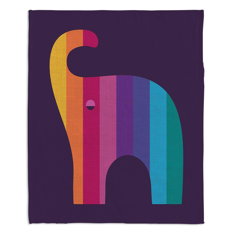 ブランケットウルトラソフトFuzzy 4サイズホーム装飾寝室ソファスローブランケットダイアノウチェデザインズ – Artist Kim Hubball – Elephant Nursery Medium 60