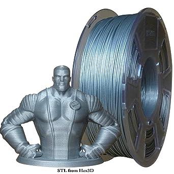 Stronghero3D filamento para impresora 3D, filamento PLA, plata ...