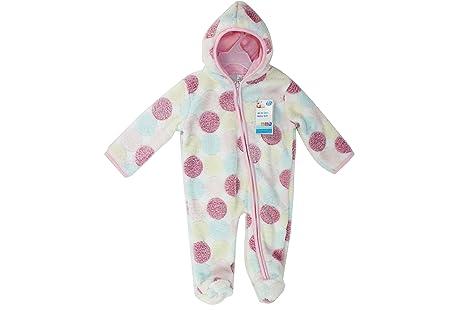Bebé Pelele de forro polar, perchero de pared de una pieza traje con capucha acogedor