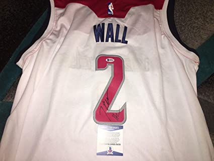 best sneakers 16539 6569d John Wall Autographed Signed Washington Wizards Jersey ...