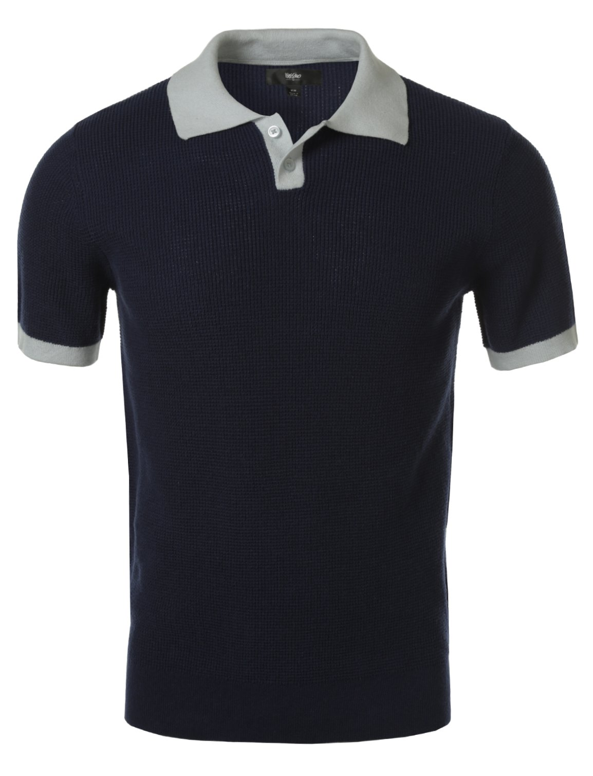 Mossimo Men's Pullover Polo Sweater with Contrast Collar Navy XL