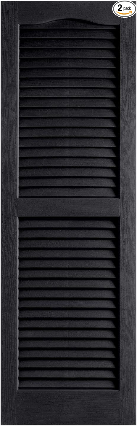 Black Alpha VNB1531BLOL 14-Inch by 31-Inch Open Louver 2-Pack