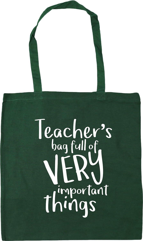 HippoWarehouse Teacher's Bag Full of Very Important Things Tote Shopping Gym Beach Bag 42cm x38cm, 10 litres 22927-TOTE-Black