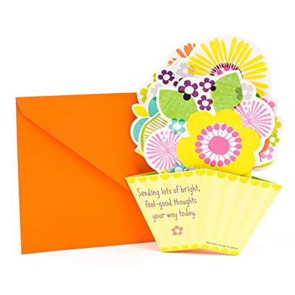 Amazon Hallmark Get Well Card Pop Up Flowers Office Products