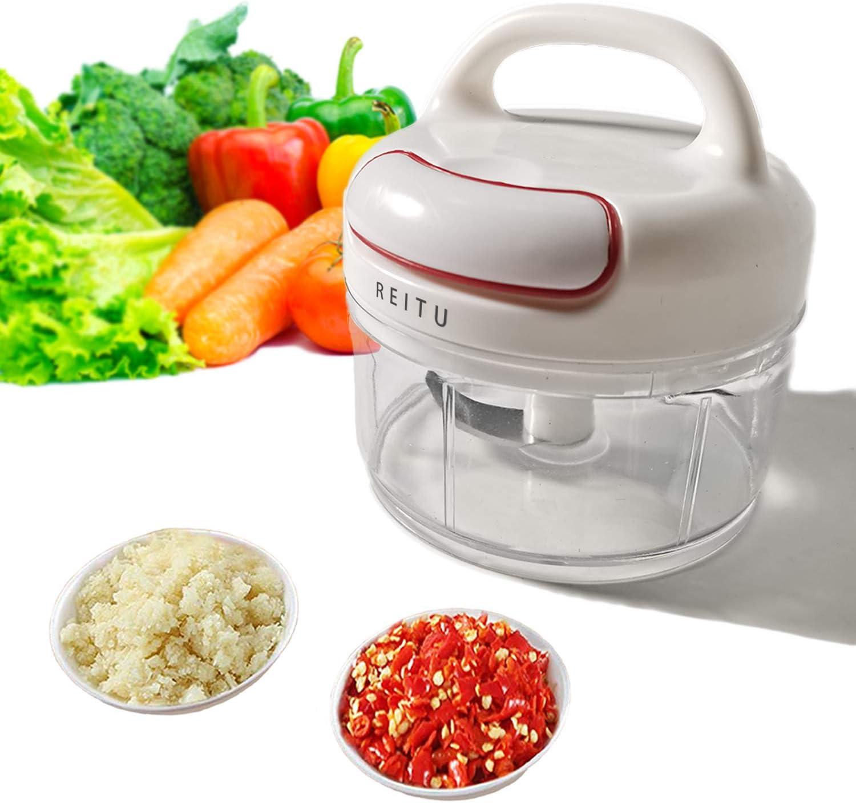 Manual Garlic Press Multi-Function Mini Grinder Garlic Chopper to Chop Fruits Vegetables Garlic Meater for Kitchen Accessories (Manual)