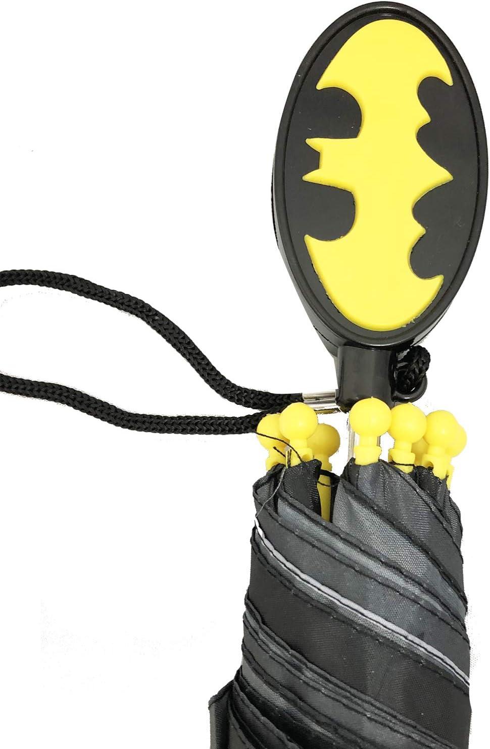 Age 3-7 Black//Yellow DC Comics Little Boys Batman Character Rainwear Umbrella