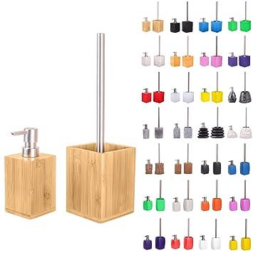 Premium Badezimmer Set Grosse Auswahl Seifenspender Mit Passender Wc Burste Hochwertige Qualitat Schone Designs Bambus Set