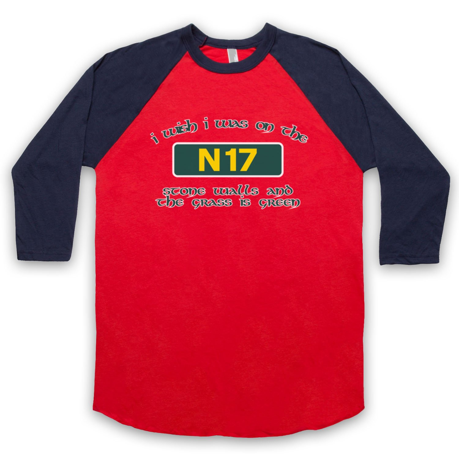 Inspired by Saw Doctors N17 Unofficial 3/4 Sleeve Retro Baseball Tee