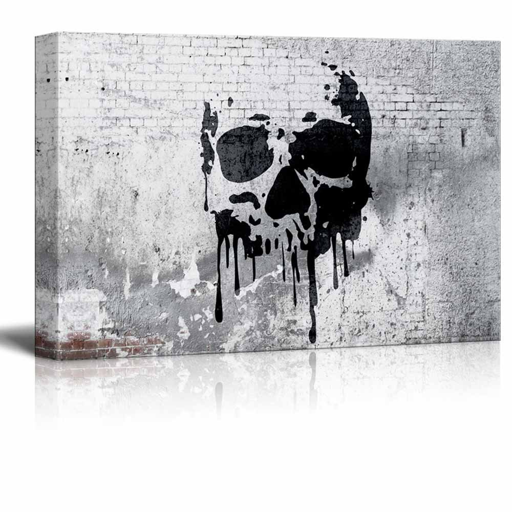 Compass on Shabby Wall 16 x 24 Giclee Print Gallery Wrap Modern Home Decor Ready to Hang wall26 Canvas Wall Art