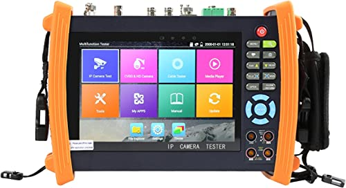 Electop 7 Inch CCTV Tester 1080P IP Camera Onvif Monitor SDI AHD TVI CVI PTZ Control POE WIFI Cable Tracer,Digital Multi-meter Optical Power Meter Visual Fault Locator TDR Cable Test 8600MOVTSADH Plus