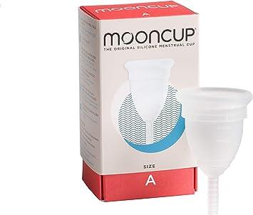 Mooncup - Copa menstrual reutilizable, Transparente - talla A: Amazon.es: Salud y cuidado personal