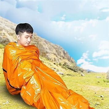 chicsoleil supervivencia de emergencia saco de dormir Bivy Sack impermeable manta térmica de Mylar hasta 90