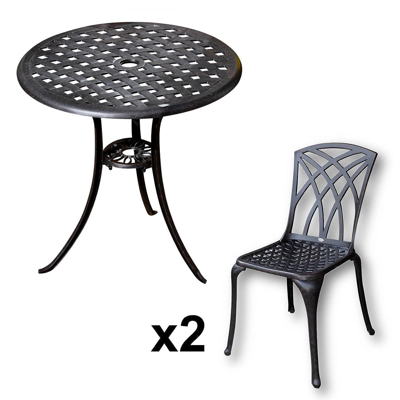 Lazy Susan BETTY Bistrotisch Mit 2 Stühlen Rundes