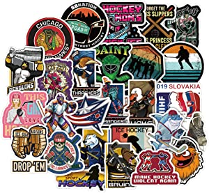 50Pcs Hockey Stickers for Water Bottle Cup Laptop Guitar Car Motorcycle Bike Skateboard Luggage Box Vinyl Waterproof Graffiti Patches JKT