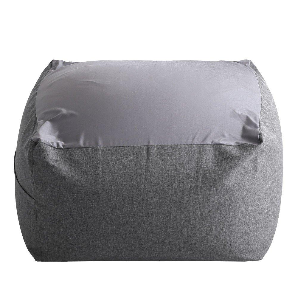 特大のキューブ型ビーズクッション日本製(XLサイズ)カバーがお家で洗えます | Guimauve-ギモーブ- グレー B073PSP4Y7  グレー