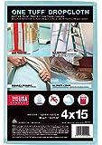 Trimaco One Tuff Professional Grade Dropcloth, 4-Feet by 15-Feet, 90099