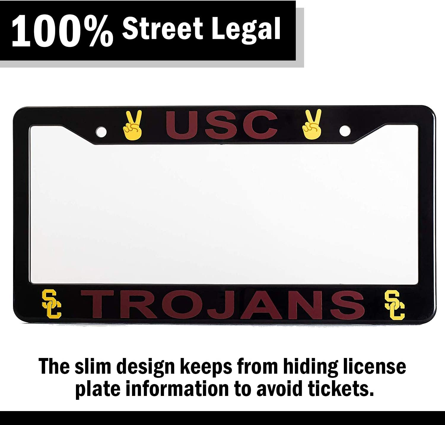 Wincraft University of Southern California USC Trojans Official NCAA 12x6 Plastic License Plate Frame