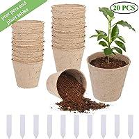 96x Macetas redondas de fibra de coco biodegradable Romberg Classic Pots 6cm