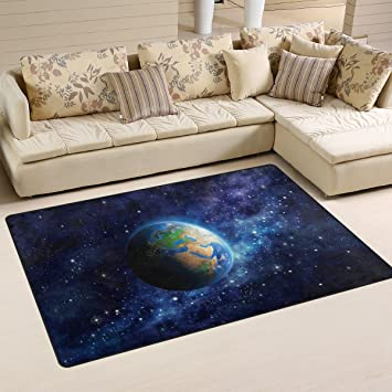 Amazon.de: coosun Planet Erde im Weltall Bereich Teppich Teppich ...