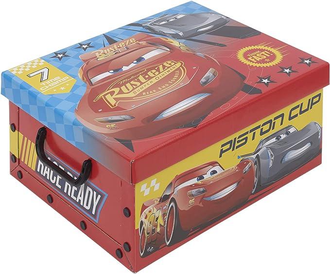 Caja de almacenamiento de juguetes para niños Disney 1 Box Cars 3: Amazon.es: Hogar