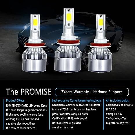 Areyourshop LED Headlight Kit 9005 + H11 + 9006 6000K 3900W 585000LM Combo  Hi Low Bulbs