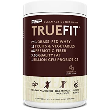 top selling RSP TrueFit - Lean Meal Replacement Protein Shake with Fiber & Probiotics from Essential Real Whole Foods