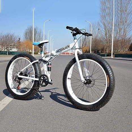 Bicicleta de montaña plegable de 24