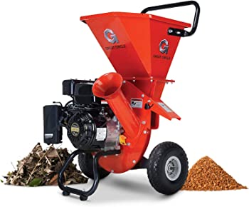 GreatCircleUSA 3-in-1 Gas-Powered Chipper Shredder for Composting