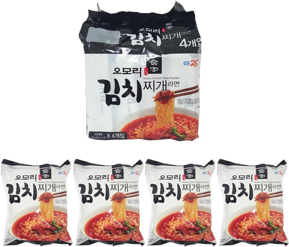 [Paldo] GS25 Omori Kimchi stew Ramen (Pack of 4) / Korean food/Korean ramen (overseas direct shipment)