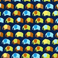 Algodón Tela Retales–Robert Kaufman–Urban Zoologie Minis–marina Mini elefantes