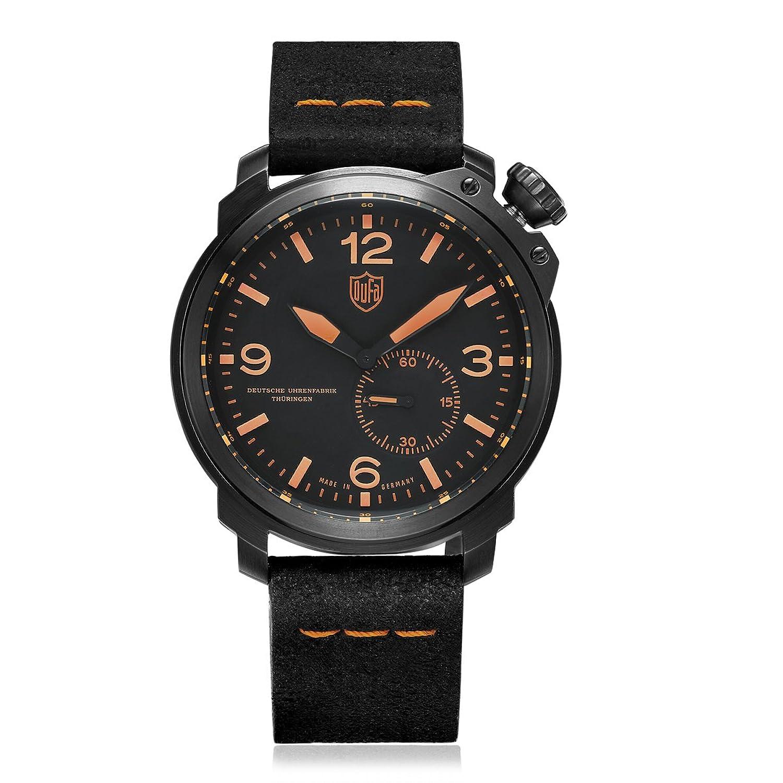 Dufa Deutsche Uhrenfabrik Unisex-Armbanduhr Analog Quarz Leder DF-9009-04 Kiel