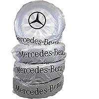 Mercedes-Benz Bandenzakken, 4 stuks, bandenbescherming, robuust, beschrijfbaar, ecologisch, tot 50 cm