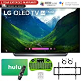"LG 65"" C8 OLED 4K HDR AI Smart TV (2018 Model) with Bonus Hulu $100 Gift Card + 1 Year Extended Warranty + Wall Mount Kit and More - OLED65C8"