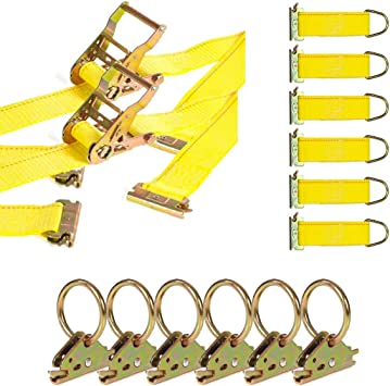 E-Track Tie-Down Accessories 21 Pieces: 5 ft Black Rails DC Cargo Mall E-Track Tie-Down Kit E-Track Storage Bin